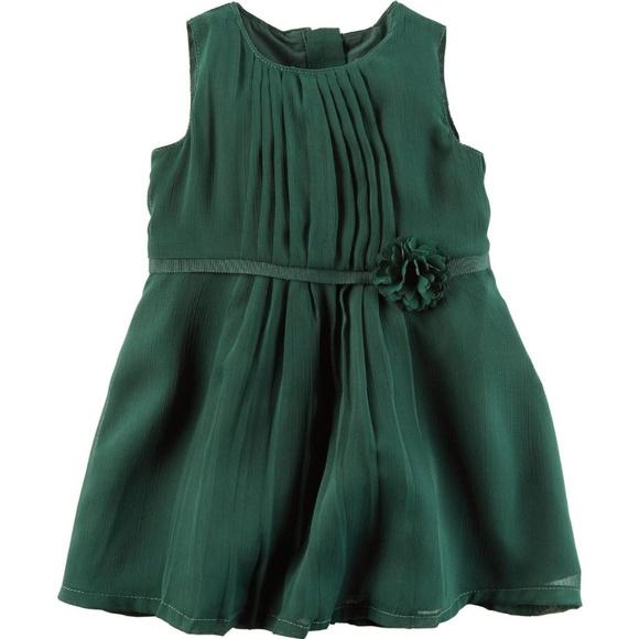 74f832a62c7 Carters 2-Pc Dark Green Chiffon Dress